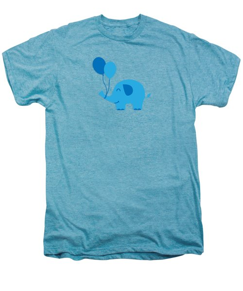 Sweet Funny Baby Elephant With Balloons Men's Premium T-Shirt