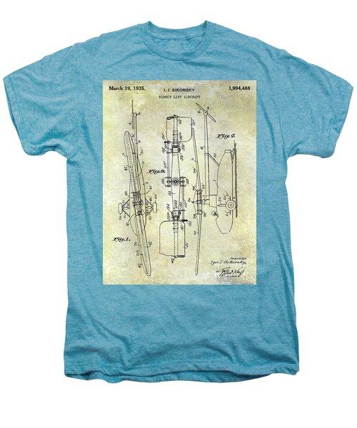 1935 Helicopter Patent  Men's Premium T-Shirt
