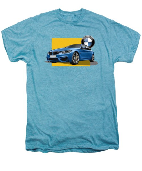 2016  B M W  M 3  Sedan With 3 D Badge  Men's Premium T-Shirt