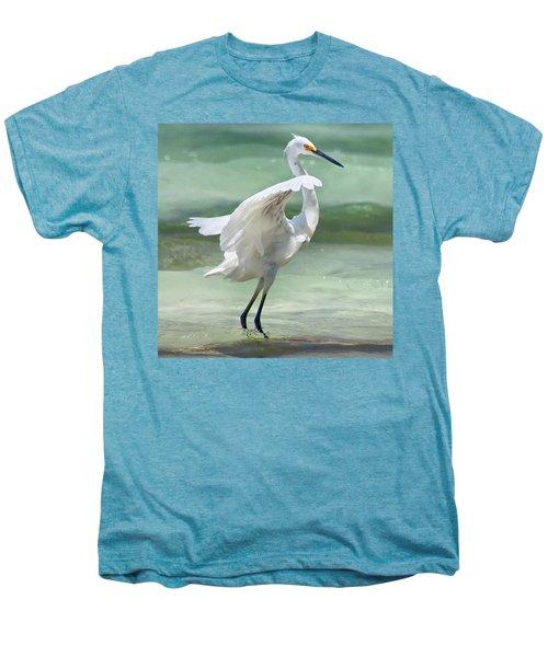 A Snowy Egret (egretta Thula) At Mahoe Men's Premium T-Shirt