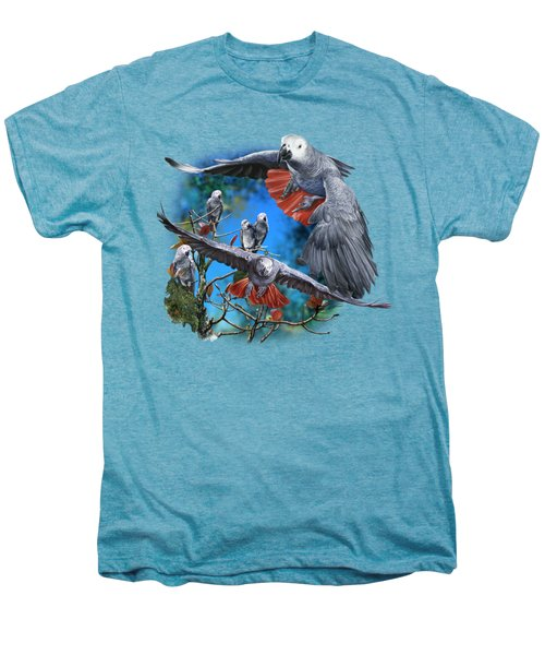 African Grey Parrots Men's Premium T-Shirt