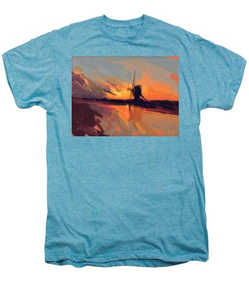 Autumn Indian Summer Windmill Holland Men's Premium T-Shirt by Nop Briex