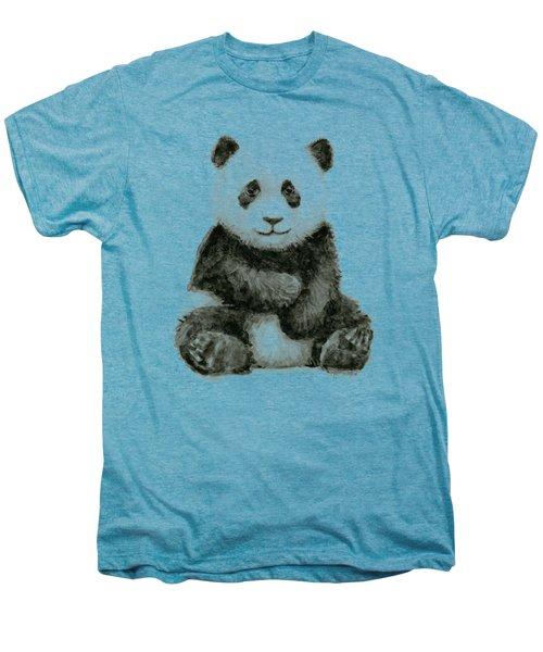 Baby Panda Watercolor Men's Premium T-Shirt