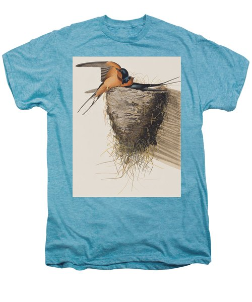 Barn Swallow Men's Premium T-Shirt by John James Audubon
