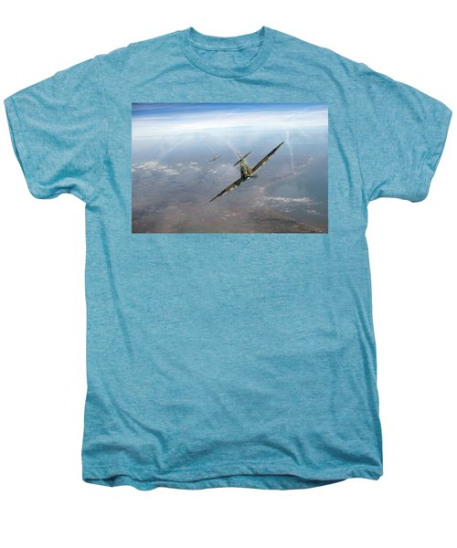 Men's Premium T-Shirt featuring the photograph Battle Of Britain Spitfires Over Kent by Gary Eason