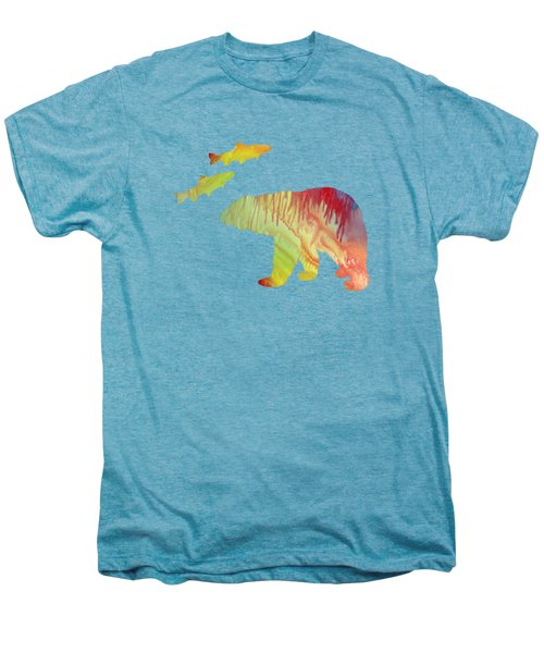 Bear And Salmon Men's Premium T-Shirt