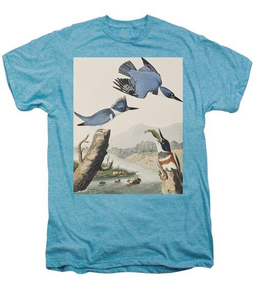 Belted Kingfisher Men's Premium T-Shirt by John James Audubon