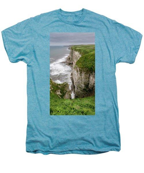Bempton Cliffs Men's Premium T-Shirt by Nigel Wooding