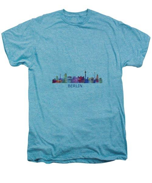 Berlin City Skyline Hq 1 Men's Premium T-Shirt by HQ Photo