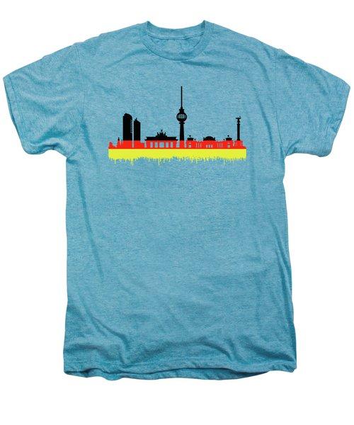 Berlin Skyline Men's Premium T-Shirt by Solomon Barroa