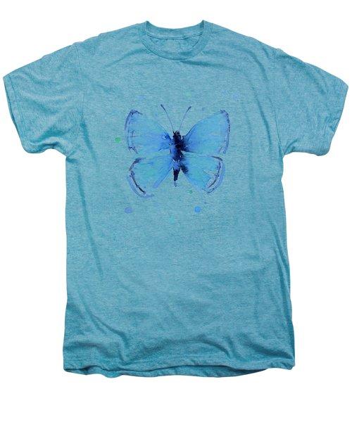 Blue Abstract Butterfly Men's Premium T-Shirt