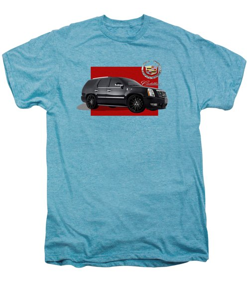 Cadillac Escalade With 3 D Badge  Men's Premium T-Shirt