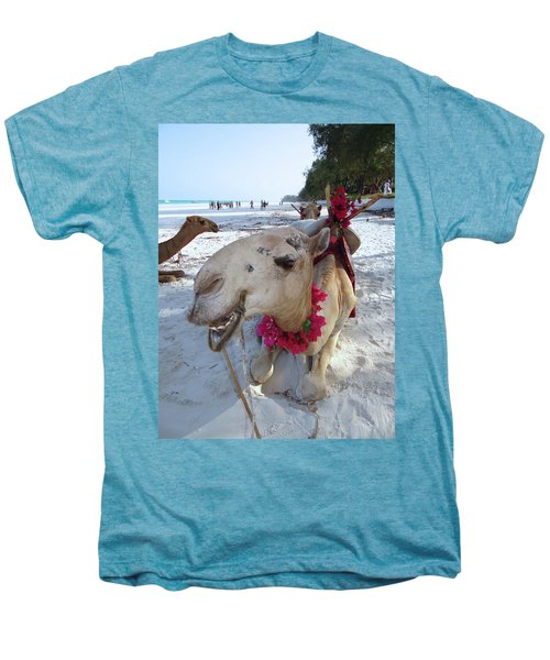 Camel On Beach Kenya Wedding3 Men's Premium T-Shirt by Exploramum Exploramum