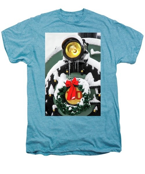 Christmas Train At Pacific Junction Men's Premium T-Shirt
