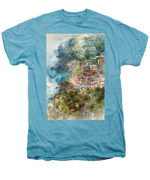 Cinque Terre In Italy Men's Premium T-Shirt