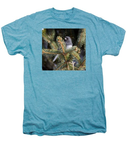 Men's Premium T-Shirt featuring the photograph Dark-eyed Junco by Ricky L Jones