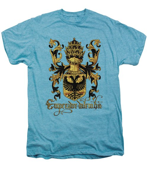 Emperor Of Germany Coat Of Arms - Livro Do Armeiro-mor Men's Premium T-Shirt by Serge Averbukh