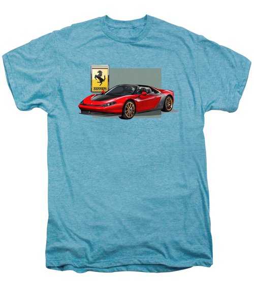 Ferrari Sergio With 3d Badge  Men's Premium T-Shirt by Serge Averbukh