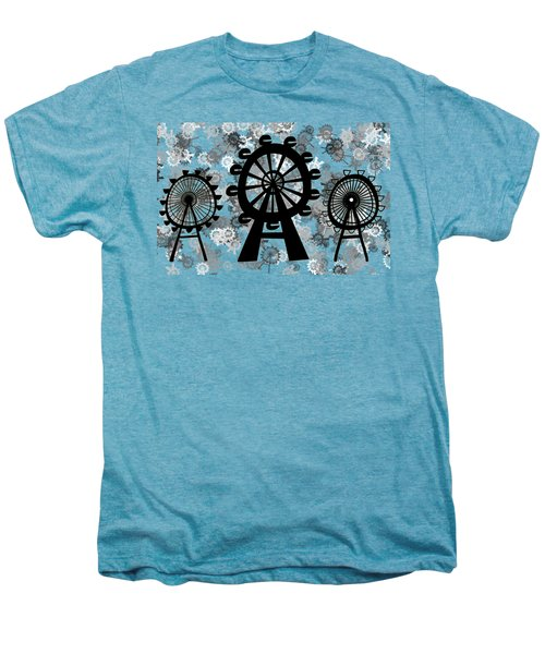Ferris Wheel - London Eye Men's Premium T-Shirt by Michal Boubin