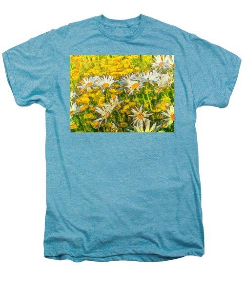 Field Of Daisies Men's Premium T-Shirt