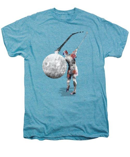 Golf Player Men's Premium T-Shirt by Marlene Watson