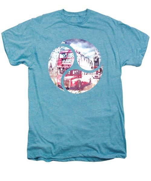 Graphic Art London Westminster Bridge Streetscene Men's Premium T-Shirt