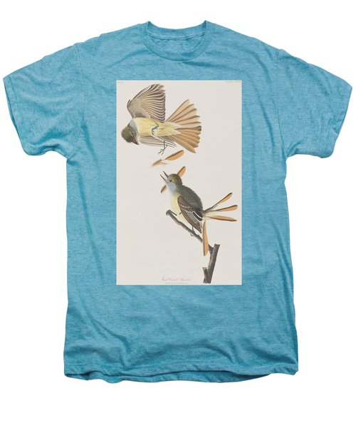 Great Crested Flycatcher Men's Premium T-Shirt by John James Audubon