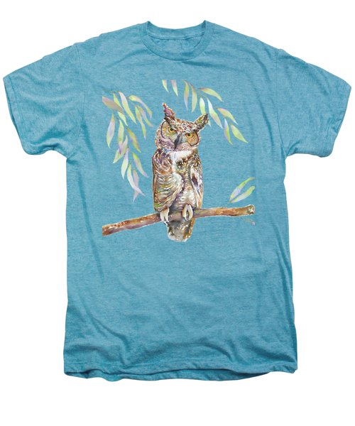 Great Horned Owl  Men's Premium T-Shirt by Amy Kirkpatrick