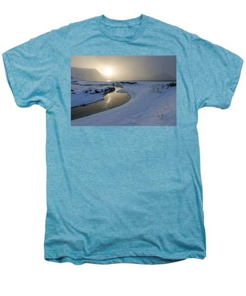 Haukland Beach, Lofoten Men's Premium T-Shirt by Dubi Roman