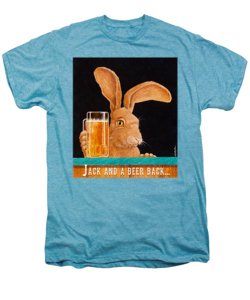 Jack And A Beer Back... Men's Premium T-Shirt by Will Bullas
