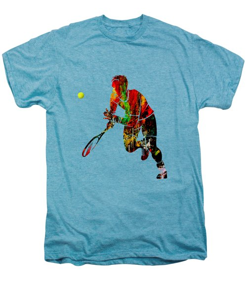 Mens Tennis Collection Men's Premium T-Shirt by Marvin Blaine