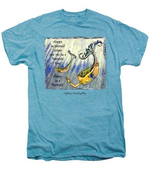 Mermaid Men's Premium T-Shirt by W Gilroy