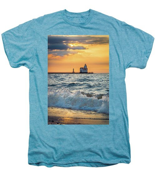 Men's Premium T-Shirt featuring the photograph Morning Dance On The Beach by Bill Pevlor
