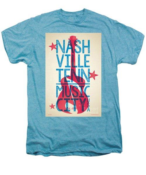 Nashville Tennessee Poster Men's Premium T-Shirt