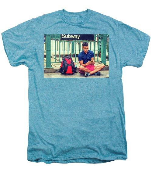 New York Subway Station Men's Premium T-Shirt