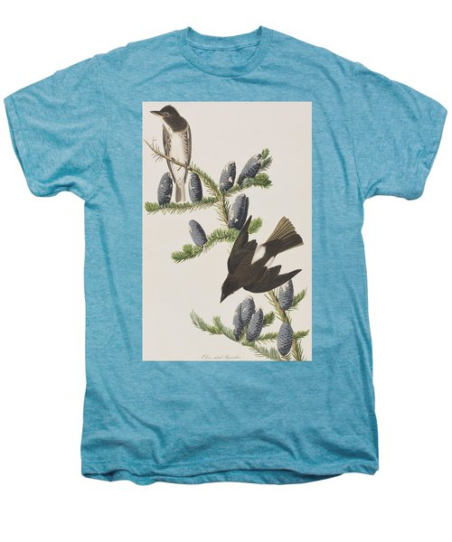 Olive Sided Flycatcher Men's Premium T-Shirt by John James Audubon