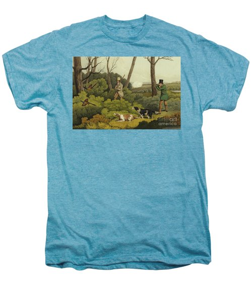 Pheasant Shooting Men's Premium T-Shirt by Henry Thomas Alken