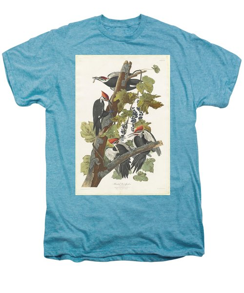 Pileated Woodpecker Men's Premium T-Shirt by John James Audubon