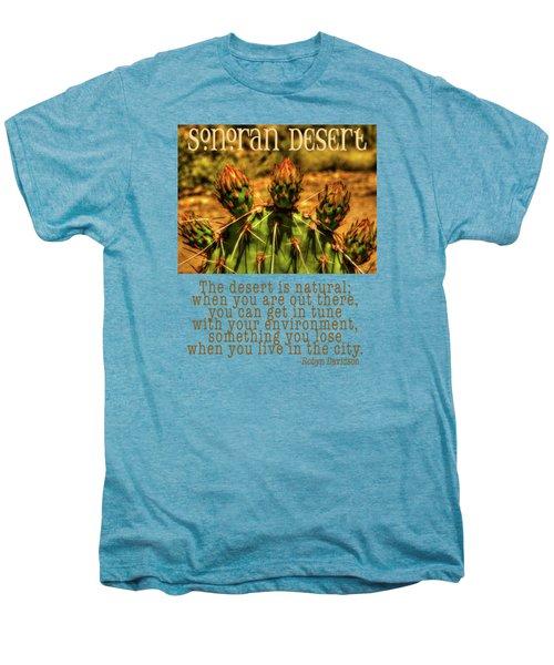Prickly Pear Cactus Men's Premium T-Shirt by Roger Passman