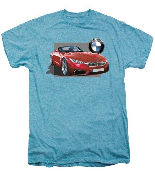 Red 2018 B M W  Z 5 With 3 D Badge  Men's Premium T-Shirt