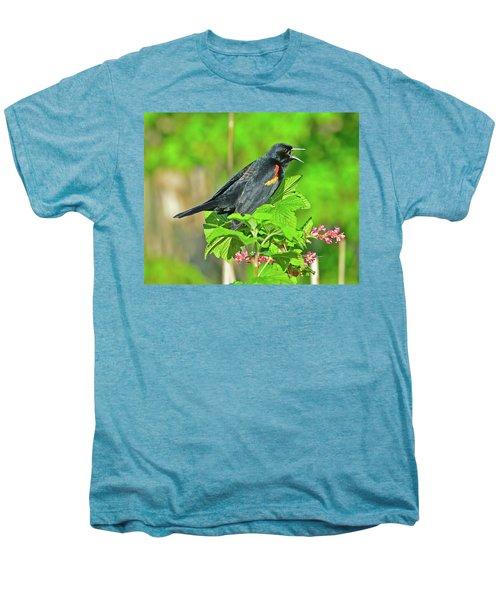 Red-winged Blackbird Men's Premium T-Shirt