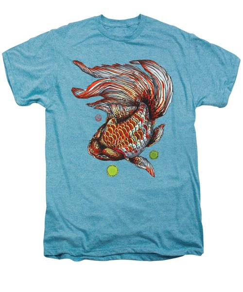 Ryukin Goldfish Men's Premium T-Shirt by Shih Chang Yang