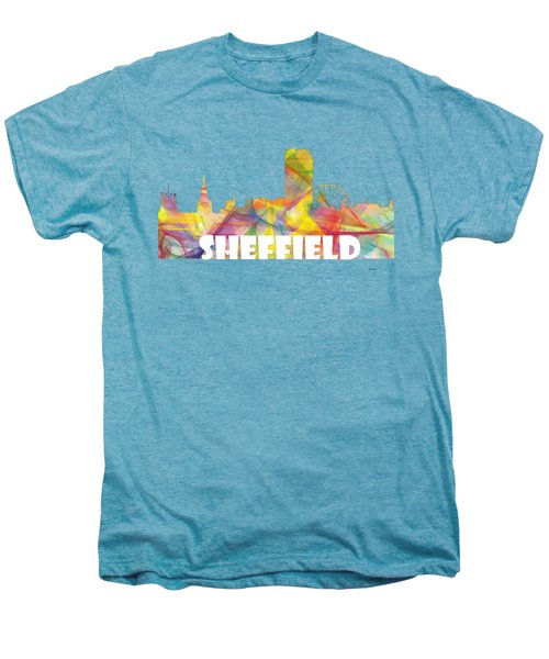 Sheffield England Skyline Men's Premium T-Shirt
