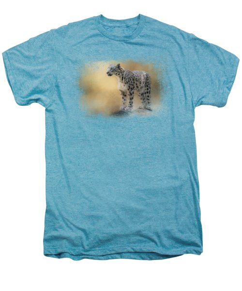Snow Leopard Men's Premium T-Shirt by Jai Johnson