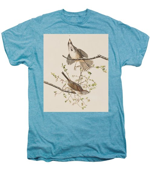 Song Sparrow Men's Premium T-Shirt by John James Audubon