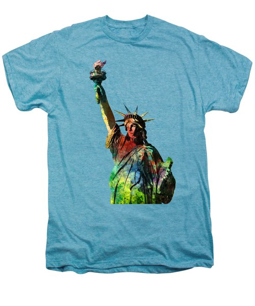 Statue Of Liberty Men's Premium T-Shirt by Marlene Watson