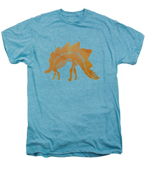 Stegosaurus Skeleton Men's Premium T-Shirt