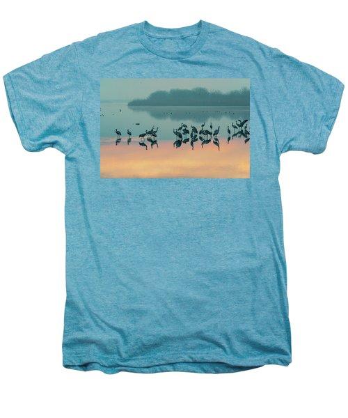 Sunrise Over The Hula Valley Men's Premium T-Shirt by Dubi Roman