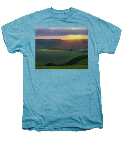 Sunset Over The South Downs Men's Premium T-Shirt