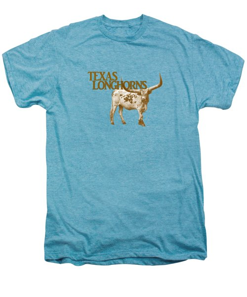 Texas Longhorns Men's Premium T-Shirt by Priscilla Burgers